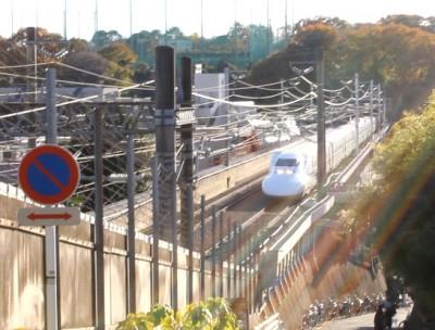 横浜日吉の新幹線スポット