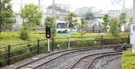 ミニ運転列車の線路と信号