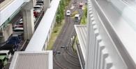 屋上から見るミニ運転列車