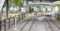 ミニ列車の出発点付近の線路