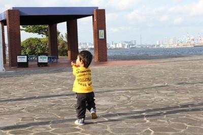 城南島海浜公園は海に隣接