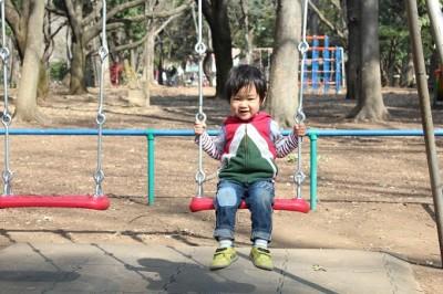 砧公園子供の森遊具ブランコ