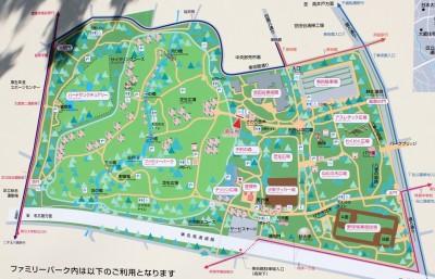 砧公園マップ