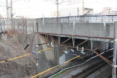 武蔵小杉新幹線線路と南武線線路