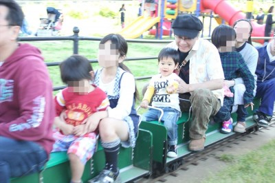 栗山近隣公園のミニ蒸気機関車に乗りました