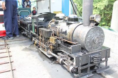 ライブスチームのシェイ式蒸気機関車