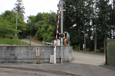 ふるさと鉄道の踏切