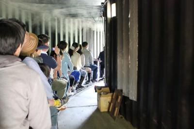 西平畑公園のミニ蒸気機関車のトンネル内