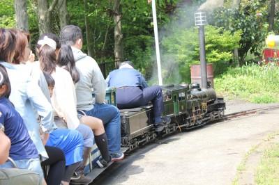 神奈川県松田市のミニ蒸気機関車
