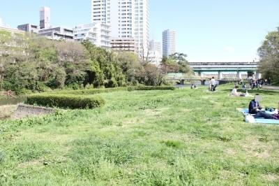 兵庫島公園入ってすぐの広場