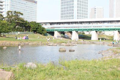 ひょうたん池と二子玉駅