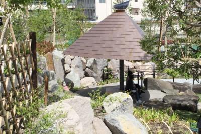 二子玉日本庭園ベンチ