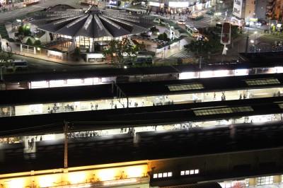 ホテルクラウンパレス最上階客室から見た夜景