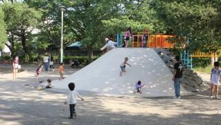 稲田公園-石山のすべり台