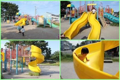 稲田公園-遊具場②滑り台