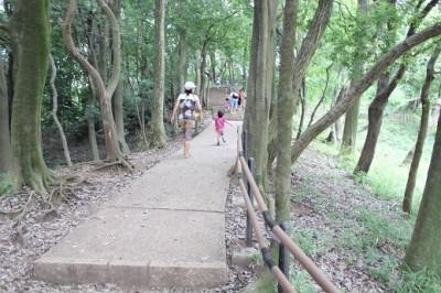 四季の森公園-滑り台の道