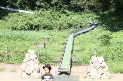 三ツ池公園-ロングローラー滑り台