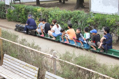 行徳駅前公園-蒸気機関車乗車