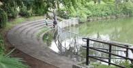 遊びの森前の池淵