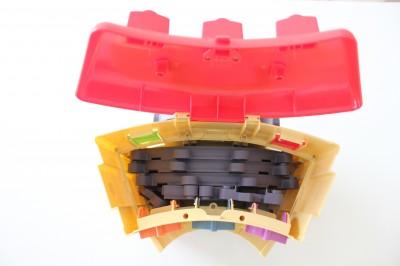 チャギントンの玩具パーツ収納できる