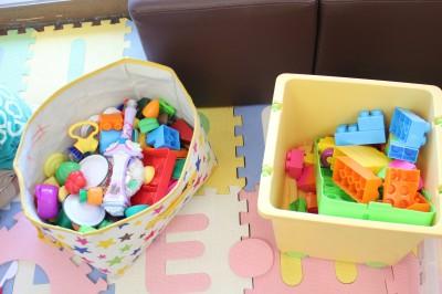 佐野サービスエリアのレストラン内キッズスペースの玩具