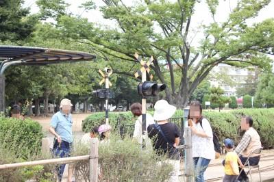 行徳駅前公園-踏切