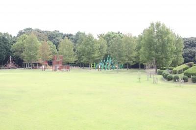 愛知こどもの国-芝生広場の遊具