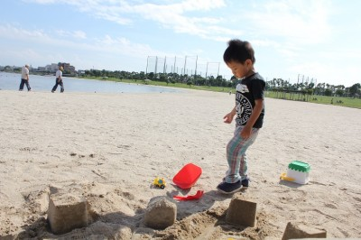 大森ふるさとの浜辺公園-砂遊び