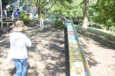 かなり楽しめるロングローラー滑り台-岸根公園