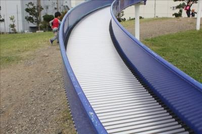 大森ふるさとの浜辺公園-ローラー滑り台