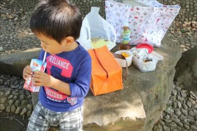 お昼ご飯はお弁当-岸根公園