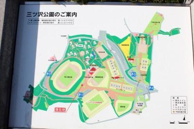 横浜三ツ沢公園案内図