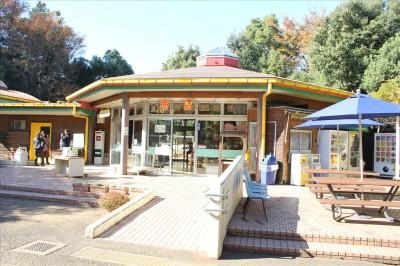 町田リス園の売店の建物