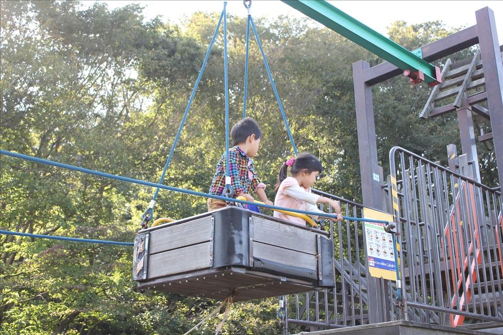 荻野運動公園の人力ゴンドラ