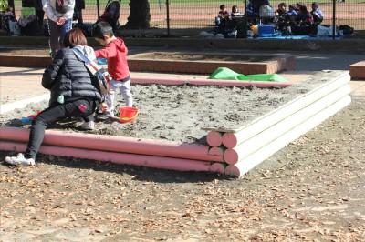 中央遊具広場のお砂場