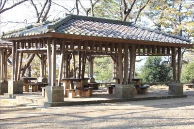 展望広場屋の根付き休憩所