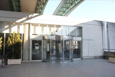 稲城市総合体育館入口