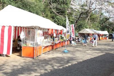 多摩川台公園のさくらと屋台
