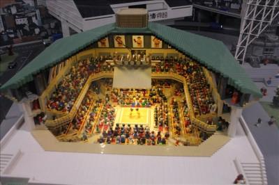 レゴブロックで作られた両国国技館