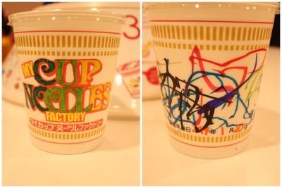 マジックでデザインしたマイカップ