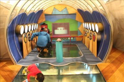 つばさの国のアニメーション映像スペース