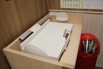 ベビールームにある幼児用体重計