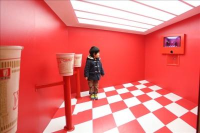 斜めの床の部屋