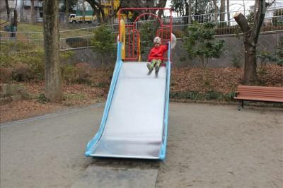 子供広場の滑り台