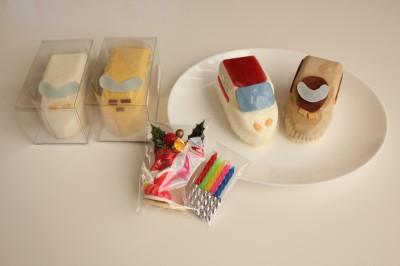 新幹線ケーキセットクリスマスバージョン