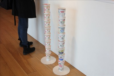 カップラーメンのカップで身長測定