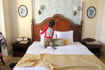 東京ディズニーランドホテルのベッド