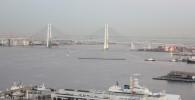 観覧車から見える横浜ベイブリッジ
