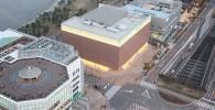 観覧車から見た、カップヌードルミュージアムとその周辺