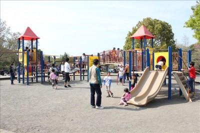 麻溝公園遊具広場の大型遊具
